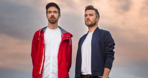 Lar Kaye with All Tvvins bandmate Conor Adams. For Kaye, the 'Thirtysixstrings' album  showed him what an Irish band could achieve when he was a teenager.