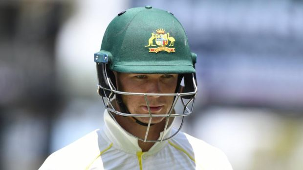 Peter Handscomb's place in the Australia side for the third Test in Perth is under threat. Photograph: Dave Hunt/EPA
