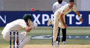 James Anderson took five wickets as England bowled Australia out for 138 in Adelaide. Photograph: William West/AFP