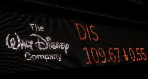 Fox shares rose 1.6 per cent in midday trade on Tuesday, while Disney tumbled 3 per cent. Photograph: Lucas Jackson/Reuters