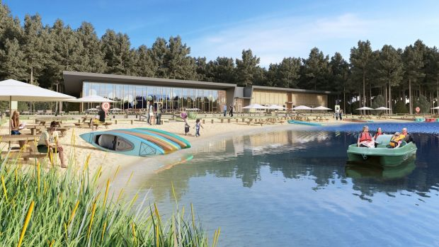 An artists's impression of the lake at Center Parcs.