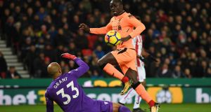 "Sadio  Mané:  claims Liverpool are capable of ""beating any team in the world"".  Photograh:  Gareth Copley/Getty Images)"