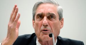 Special counsel Robert Mueller reportedly ordered Deutsche Bank to hand over account information related to US president Donald Trump. Photograph: Shawn Thew/EPA