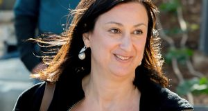 Daphne Caruana Galizia: A close friend said  that she did not think the journalist had ever investigated the three men charged on Tuesday. Photograph: Jon Borg/AP