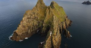 There is no bad way to see the Skelligs, any angle you approach them from demonstrates their sheer absurdity, but doing so from the air is exhilarating, awe-inspiring and ridiculously opulent. Photograph: Valerie O'Sullivan