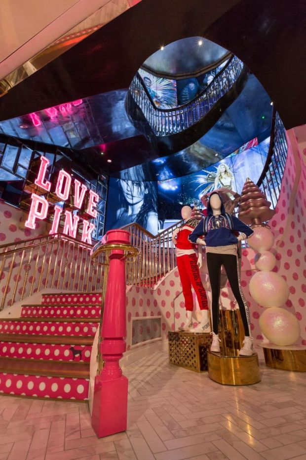 The interior of the new Victoria's Secret store which opened on Grafton Street in Dublin last Tuesday