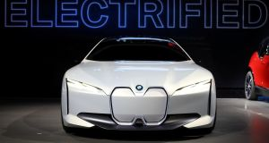 The BMW all-electric i Vision Dynamics concept car: the supply of battery metals is coming under greater scrutiny as electric car sales are up 63 per cent in the third quarter from a year earlier. Photograph: Reuters