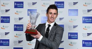 Rob Heffernan was named Athlete of the Year at the Irish Life Health National Athletics Awards  at the Crowne Plaza hotel  in Santry. Photograph: Sam Barnes/Sportsfile