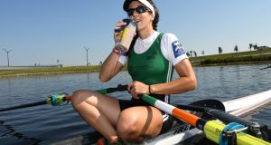 Denise Walsh at World Rowing Championships in Florida after winning the semi-final this year. Photograph: Detlev Seyb/Inpho