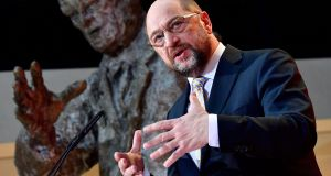 Martin Schulz, leader of Germany's social democrat SPD party. Photograph: Tobias Schwarz/AFP/Getty Images
