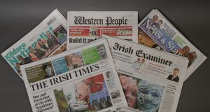 The Irish Times is acquiring Landmark Media. which includes Irish Examiner, Waterford News & Star, Western People and Kildare Nationalist. Photograph: Dara Mac Dónaill