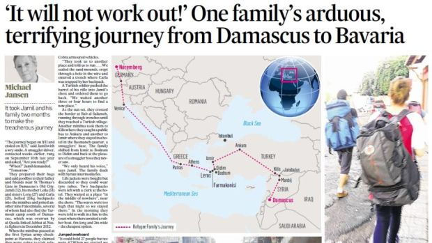 The Irish Times report on the family's escape from Syria, on September 15th, 2015