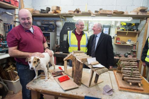 Minister for Rural Development Michael Ring at an event to mark the 400th Men's Shed in Kilcock, Co Kildare. Photograph: Barry Cronin