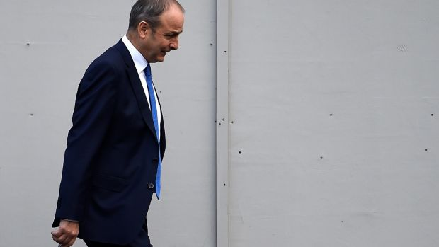 After a long period in which Fianna Fáil and Fine Gael rose in tandem, that trend is arrested – for now anyway. Above, Micheál Martin. Photograph: Clodagh Kilcoyne/Reuters