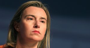 "EU foreign policy chief Federica Mogherini: ""A negotiated two-state solution is the only realistic way of bringing lasting peace."" Photograph: Ints Kalnins/Reuters"