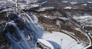 The Alpensia Ski Jumping Center in PyeongChang. Photograph: Yonhap/EPA