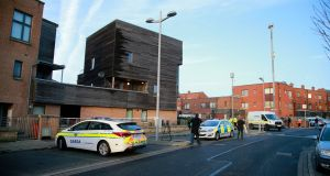 Gardaí  and Emergency Response Unit officers were carrying out a raid of a private home when the shooting began. Photograph:  Nick Bradshaw/The Irish Times