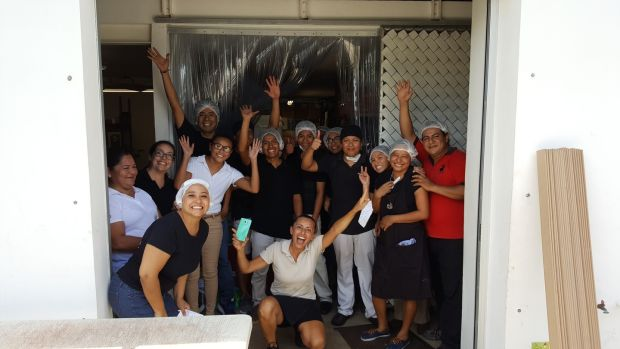 The Ah Cacao chocolate team in Mexico celebrating sending a large shipment of Kicao bars to Natural Grocers, a US chain.