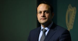 Taoiseach Leo Varadkar looks on at a news conference at Government Buildings this week. Photograph: Clodagh Kilcoyne/Reuters