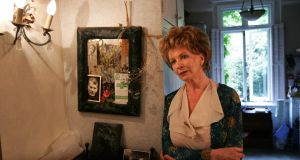 The writer Edna O'Brien  at her home in London. Photograph: Frank Miller
