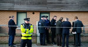 Members of the technical bureau, gardaí and GSOC were at the scene of a shooting on Thursday morning. Photograph: Nick Bradshaw