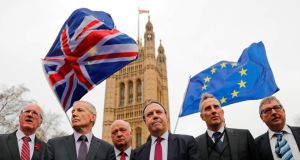 Senior DUP members in London this week. Photograph: Akmentolga Akmen/AFP/Getty Images