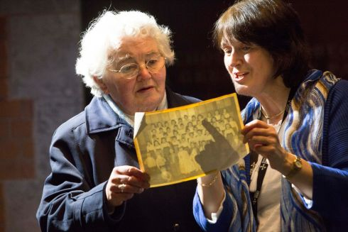 MEMORY LANE: Sr Maeve O'Sullivan and Cherie O'Sullivan look at an old communion photo ahead of a South Presentation past pupils reunion at Nano Nagle Place. Photograph: Clare Keogh