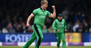 Barry McCarthy took five wickets in Ireland's 51-run win over Afghanistan in Sharjah. Photograph: Dan Mullan/Getty Images