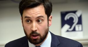 Minister for Housing Eoghan Murphy: he said 200 additional permanent emergency beds would be ready by mid-December. Photograph:  Cyril Byrne
