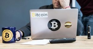 Bitcoin boom: the cryptocurrency's price has risen by 1,525 per cent this year. Photograph: Christophe Morin/Bloomberg