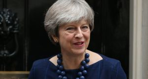 British prime minister Theresa May may travel to Brussels on Friday to conclude a deal with commission president Jean-Claude Juncker if the Irish, British and EU teams can agree on language. Photograph: Jonathan Brady/PA