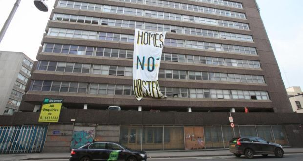 Activists took over Apollo House in December 2016. File photograph: Collins