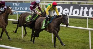 Sizing John returns to action at Punchestown on Sunday. Photograph: Ryan Byrne/Inpho