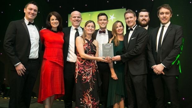 Andy Macken, Head of Sales, Media Central, presents the Best Sponsorship Team - Agency award to the Livewire team.
