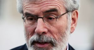 Sinn Féin leader Gerry Adams: 'Our experience through years of agreements with Britain is that the devil is in the detail.' Photograph:  Stephen Collins/Collins Photos