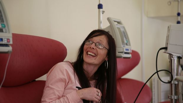 Multiple Sclerosis patient Louise Cunningham from Finglas at the Dublin Neurological Institute. Photograph Nick Bradshaw