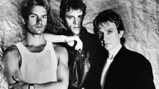 The Police in 1983: Sting, Stewart Copeland and Andy Summers. Photograph: Showtime/Getty Images
