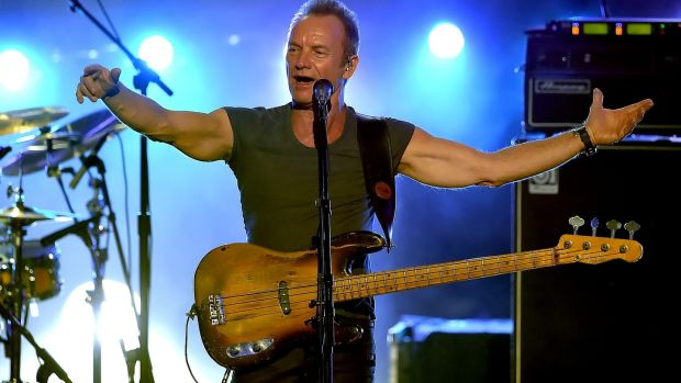 Sting performs during the 2016 American Music Awards in Los Angeles, California in November 2016. Photograph: Kevin Winter/Getty Images