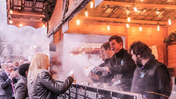Try some exotic meats at the Belfast Christmas Market, like kangaroo or wild boar.