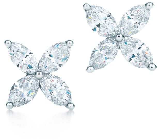 265630a29 The Victoria platinum with marquise diamond earrings are inspired by the  fire and radiance of their stones. Price: €6,450. TIFFANY VICTORIA PENDANT