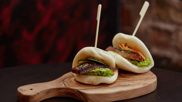 Pork belly bao buns on the menu at Bao Boi which has opened in Cork city. Photograph: Miki Barlok