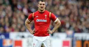 Sam Warburton could miss the rest of the season after undergoing a knee operation. Photograph: Ryan Byrne/Inpho