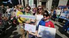 Protesters at a Repeal the Eighth Amendment Rally in   Dublin this year. Photograph Nick Bradshaw