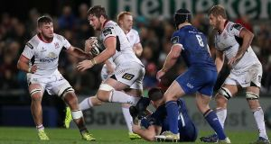 Iain Henderson: will captain Ulster at Harlequins as Rory Best misses out through injury. Photograph: Billy Stickland/Inpho