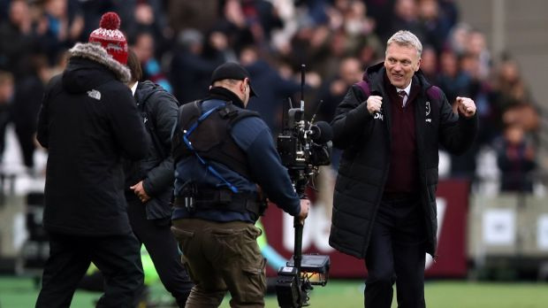 David Moyes saw West Ham secure the first win of his tenure against Chelsea. Photograph: John Walton/PA