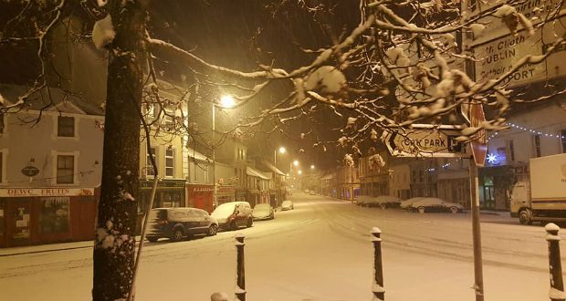 Snow in Ballaghaderreen, Co Roscommon. Photograph: Patsy McGarry