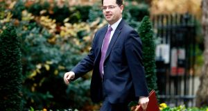 Britain's Northern secretary James Brokenshire arrives at a   weekly meeting of the British cabinet. File photograph: Tolga Akmentolga/AFP.
