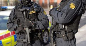 Members of the Garda Armed Support Unit, in Dublin. File photograph: Dara Mac Dónaill