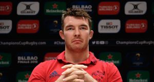 Peter O'Mahony: Like Simon Zebo, he  has a duty to himself and his family to make the most of a short career at elite level. Photograph: Bryan Keane/Inpho