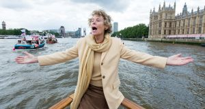 Kate Hoey showing her support for the Leave campaign  aboard a boat on the  Thames. She is optimistic about Brexit, which she believes will definitely happen. Photograph: Getty Images